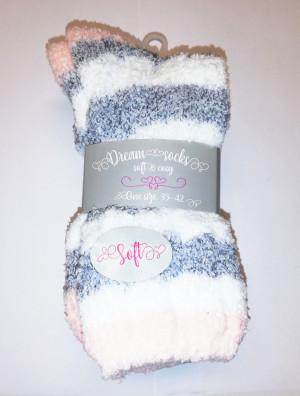 Dámské ponožky Dream Socks 37586 A2 - WiK bílo-šedá 35-42