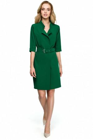 Dámské šaty S-120 - Stylove tmavě zelená
