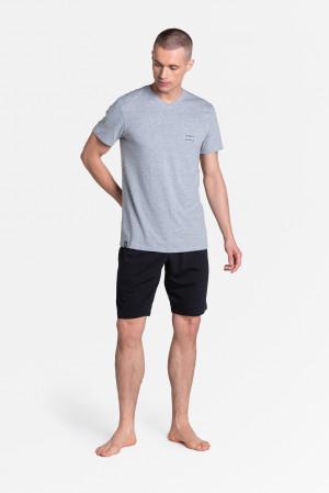Pánské pyžamo Henderson 38881 Duty kr/r M-3XL grey