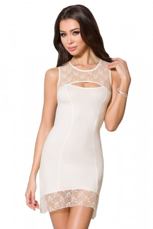 Luxusní košilka a tanga Mia ecru bílá S/M