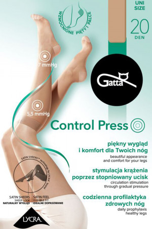 Dámské kompresní podkolenky Gatta Control Press golden uni