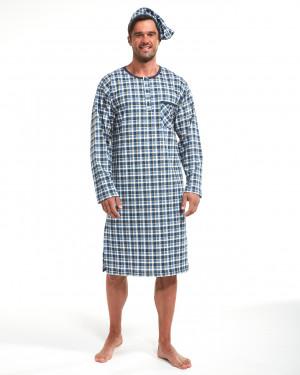Pánská noční košile Cornette 110/640104 dł/r 3XL-5XL jeans 3XL