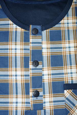 Pánská noční košile Cornette 109/636702 kr/r S-2XL jeans