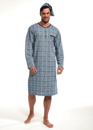 Pánská noční košile Cornette 110/636702 kr/r 3XL-5XL jeans 4XL