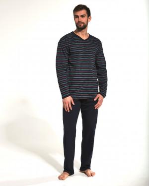 Pánské pyžamo Cornette Verious 139/12 dł/r tmavě modrá