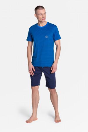 Pánské pyžamo DRAKE 38878 modrá-tmavě modrá