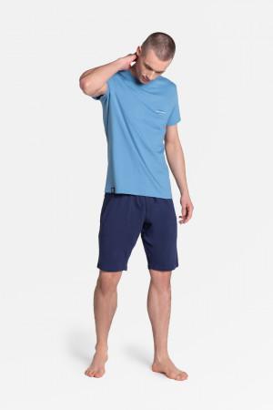 Pánské pyžamo DUTY 38881 šedá-černá