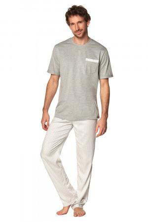 Pánské pyžamo SAM-PY-188 I - Rossli šedá-ecru