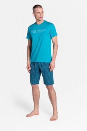 Henderson Dojo 38883-69X tyrkysové Pánské pyžamo XXL tyrkysová