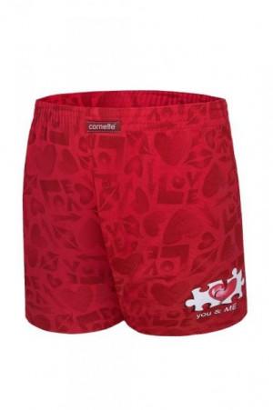 Cornette 015/09 You & Me 2 valentýnské Pánské boxerky L červená