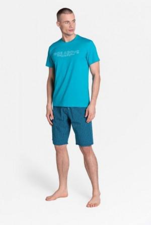Henderson 38883 Dojo Pánské pyžamo XXL dark turquoise