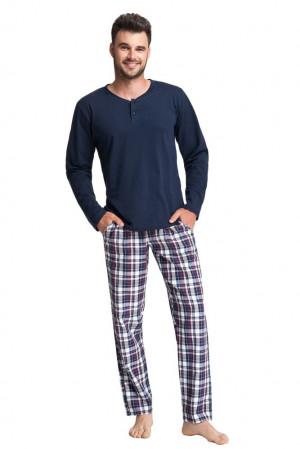 Pánské pyžamo David tmavě modré modrá