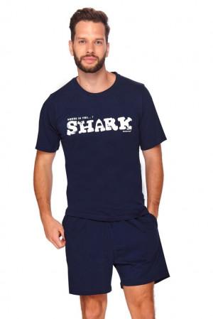 Pánské pyžamo Shark tmavě modré modrá