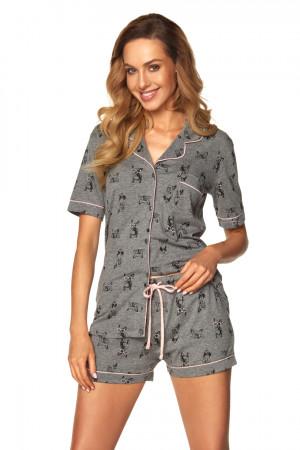 Dámské pyžamo 1169 - Rossli tmavě šedá