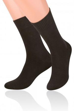 Pánské ponožky 015 Fortte - Steven tmavě hnědá 41/43