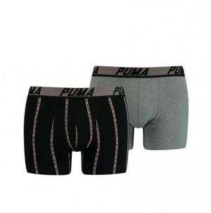 Pánské boxerky 601003001 - 2 pack - Puma černo-šedá