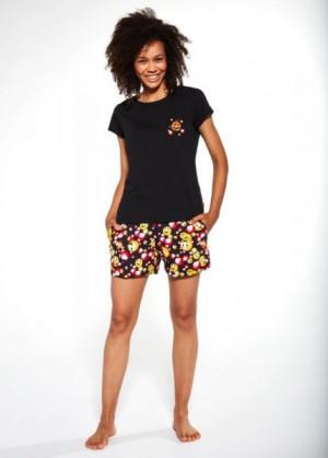 Cornette 398/189 Funny Dámské pyžamo L černá
