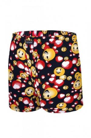 Cornette 048/03 Emoticon 2 valentýnské Pánské boxerky S žlutá