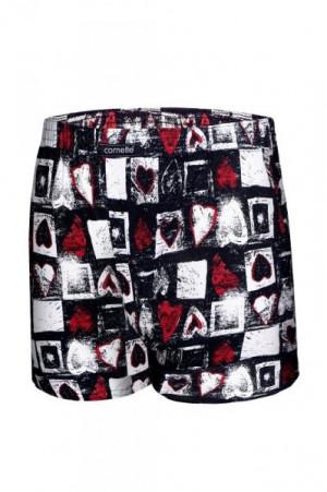 Cornette 048/04 Heart 2 valentýnské Pánské boxerky L bílá-červená