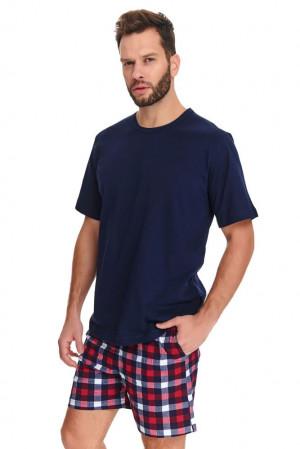Pánské pyžamo Oliver tmavě modré modrá