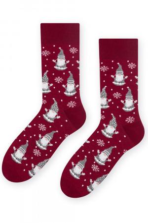 Pánské vánoční ponožky Steven 136-44 bordó 44-46