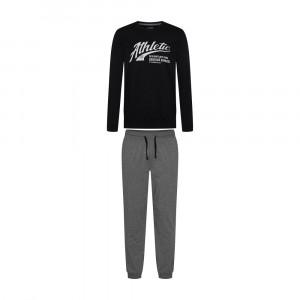 Pánské pyžamo 38376 Optimist - Henderson černá s šedou