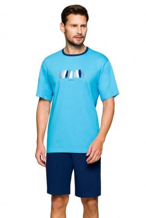 Pánské pyžamo Mark summer modré modrá