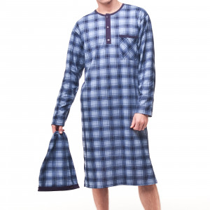 Pánská noční košile Cornette 110 dł/r M-2XL tmavě modrá