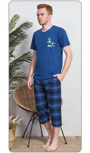 Pánské pyžamo kapri Rugby - Gazzaz modrá