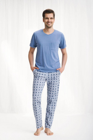 Pánské pyžamo 778 - Luna modrá