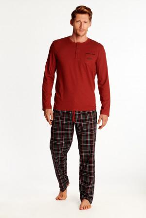 Pánské pyžamo Henderson 38360 Zeta dł/r XL červená