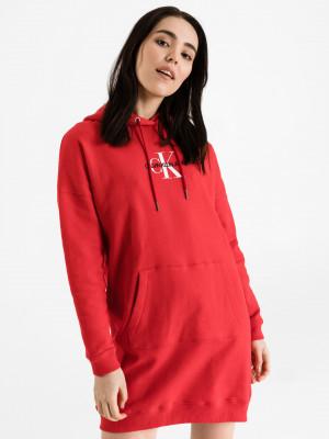 Monogram Šaty Calvin Klein Červená