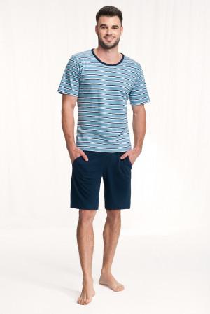 Pánské pyžamo Luna 771 kr/r 3XL modrá 3XL