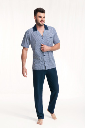 Pánské pyžamo Luna 770 kr/r 3XL tmavě modrá 3XL