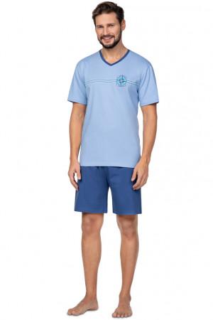 Pánské pyžamo Regina 582 kr/r M-XL tmavá žíhaná