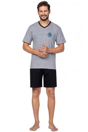 Pánské pyžamo Regina 582 kr/r 2XL-3XL tmavá žíhaná