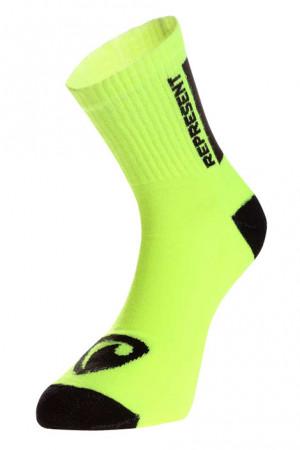 Ponožky Represent long simply logo yellow (R6A-SOC-0398) 35-38