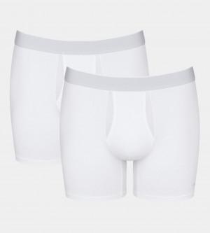 Pánské boxerky sloggi men Ever Fresh Short 2P - WHITE - SLOGGI WHITE - SLOGGI WHITE 4