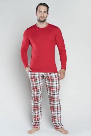 Italian Fashion Rikardo dl.r. dl.k. Pánské pyžamo M červená