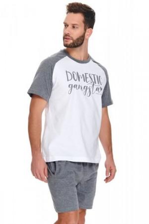 Dn-nightwear PMB.9953 Pánské pyžamo L white