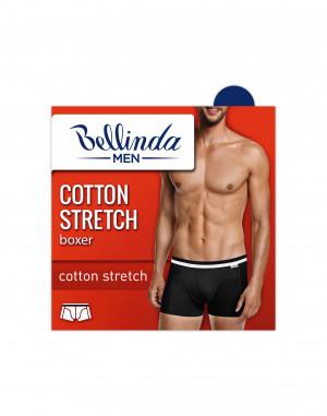 Pánské boxerky COTTON STRETCH BOXER - BELLINDA černo - bílá