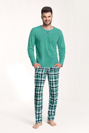 Pánské pyžamo 717 - Luna zelená