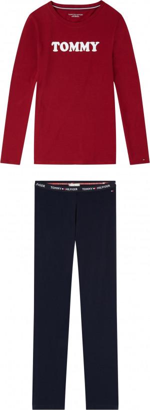 Pánské pyžamo UW0UW01929-0WG červenomodrá - Tommy Hilfiger červeno-modrá