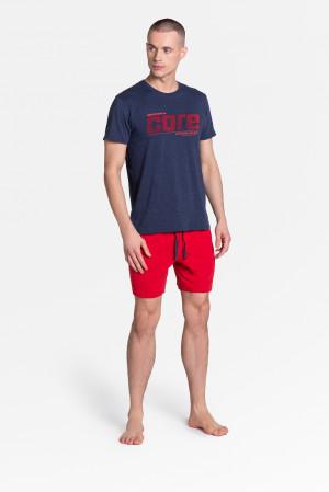 Pánské pyžamo Henderson 38285 Oxford kr/r M-3XL navy