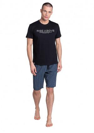 Pánské pyžamo Henderson 38883 3XL Černá