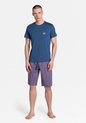 Pánské pyžamo Henderson 38364 L Modrá