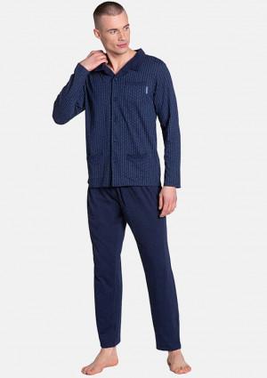 Pánské pyžamo Henderson 38363 L Tm. modrá