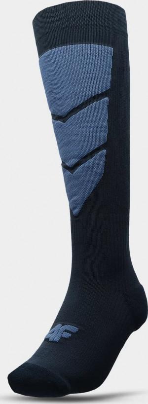 Pánské lyžařské ponožky 4F SOMN300 Tmavě modré Modrá 39-42