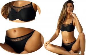 Dvoudílné plavky S1002 černá - Self černá