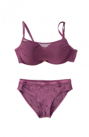Dvoudílné plavky S1002M fialová - Self fialová